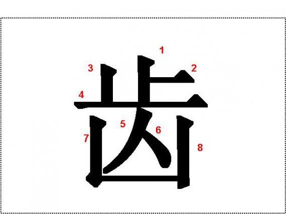 oboustranné znakové karty s pořadím tahů